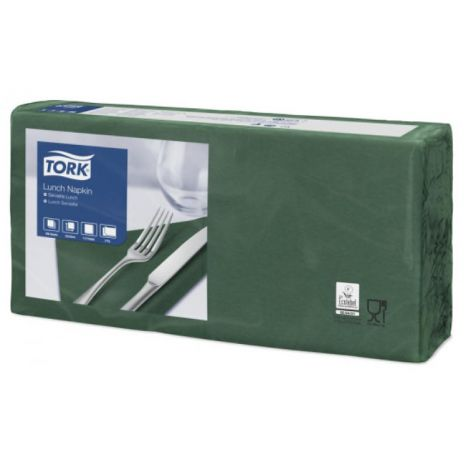 Tork lunchservet 33x33cm 2-laags 1/4-vouw mountain pine green 10x200